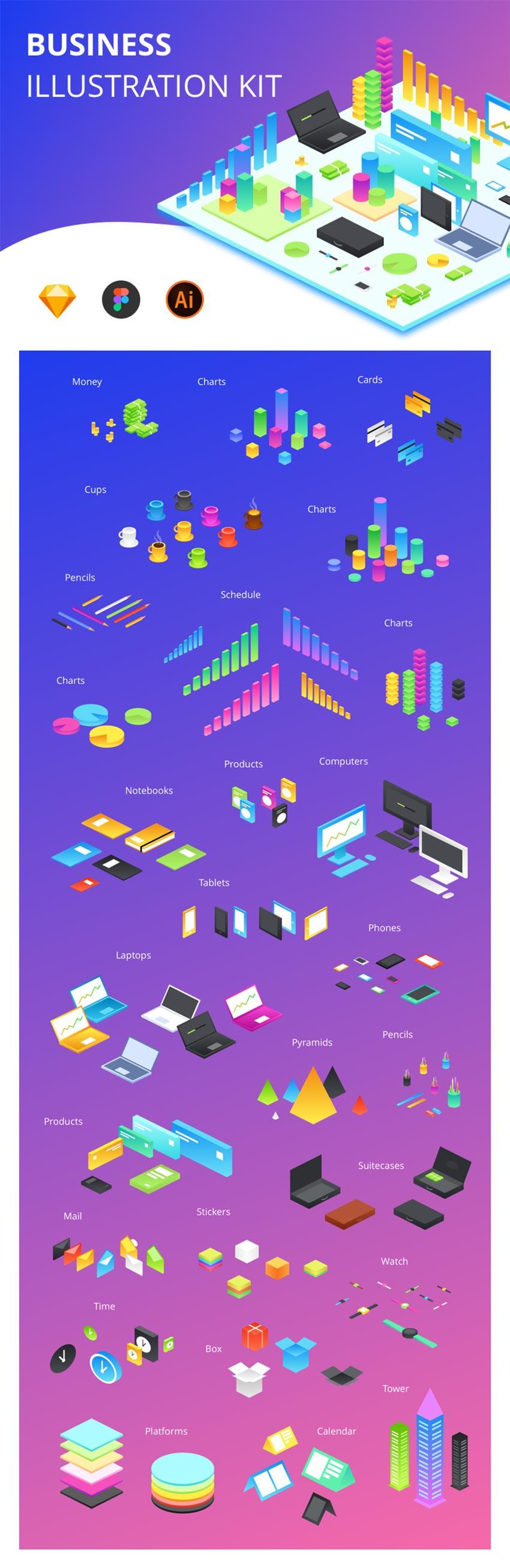 Business Illustration UI Kit