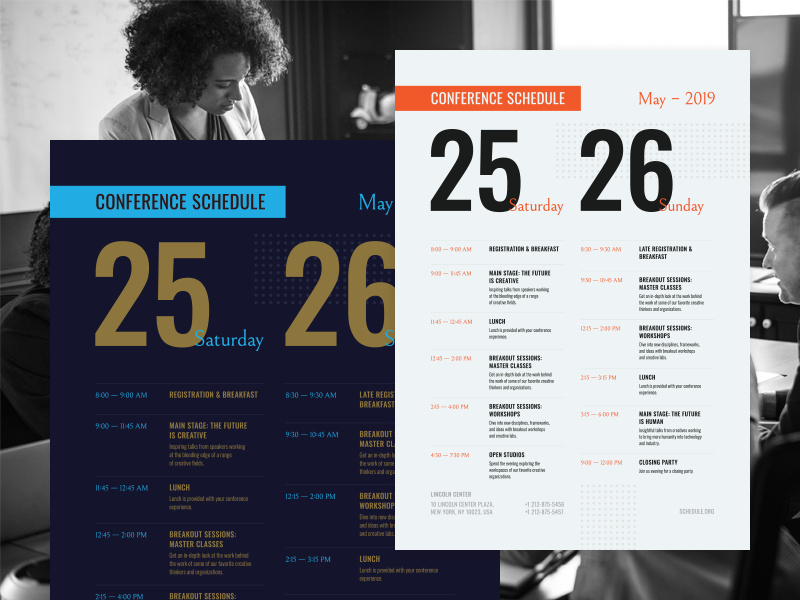 Conference Schedule Poster