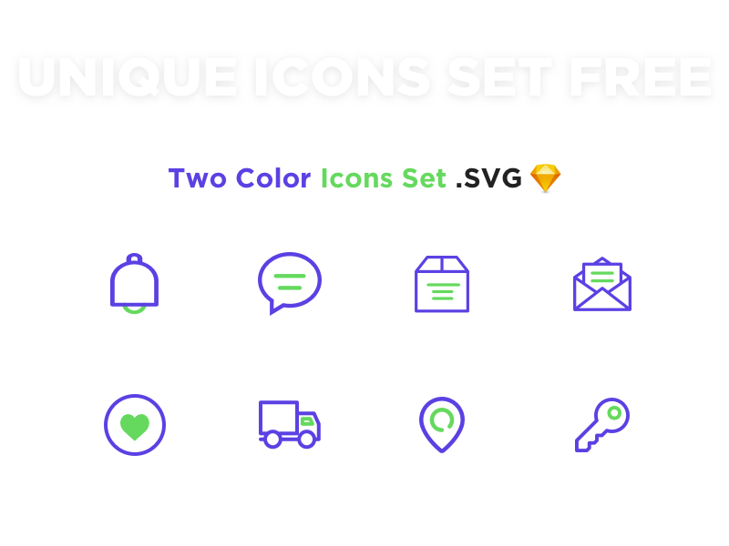 Two colour Icons Set