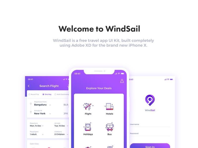 Windsail Travel App