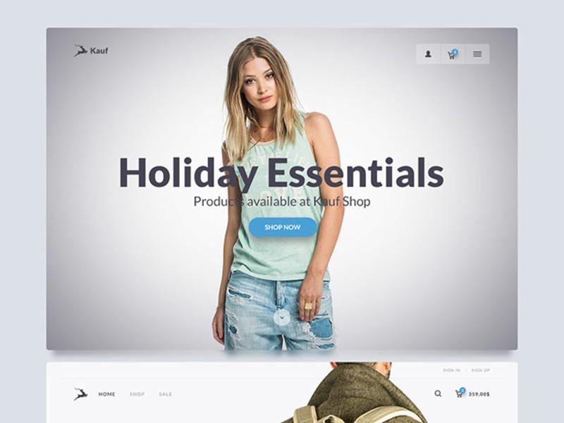 Kauf: Free web UI kit