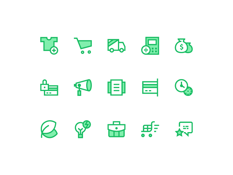 Icons for E-commerce preview picture