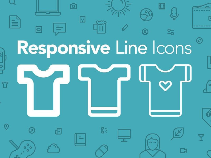 Responsive Line Icons preview picture