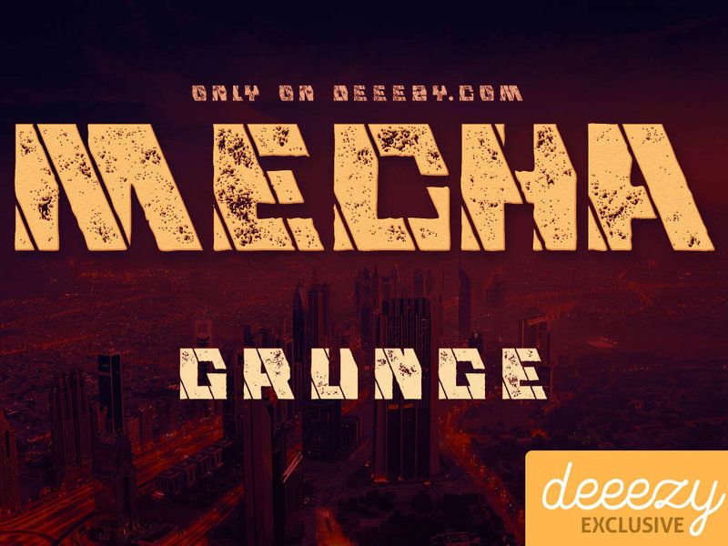 Mecha Grunge - Free Font preview picture