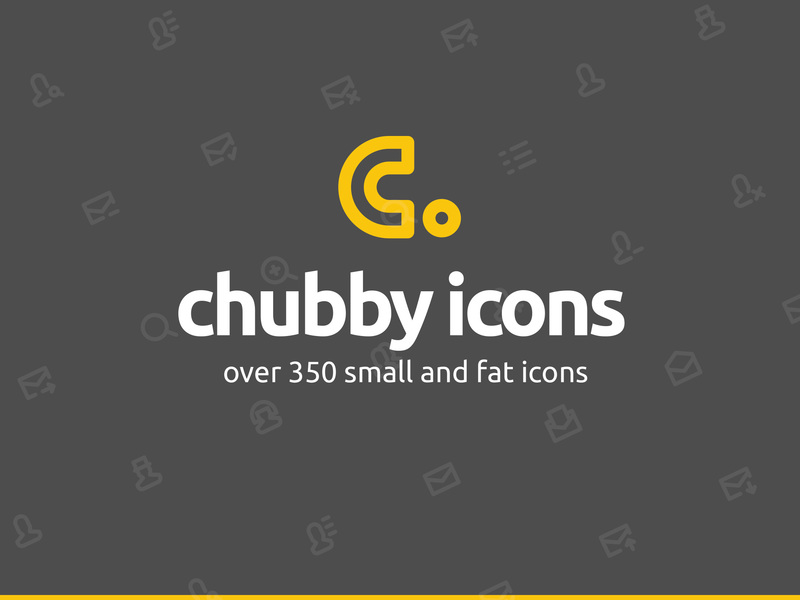 Chubby Icons Set preview picture