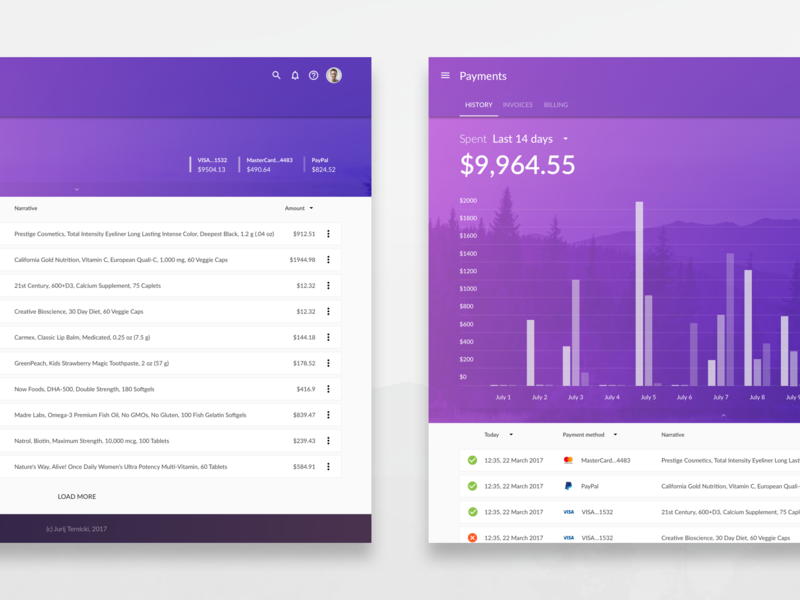 Payment History Template