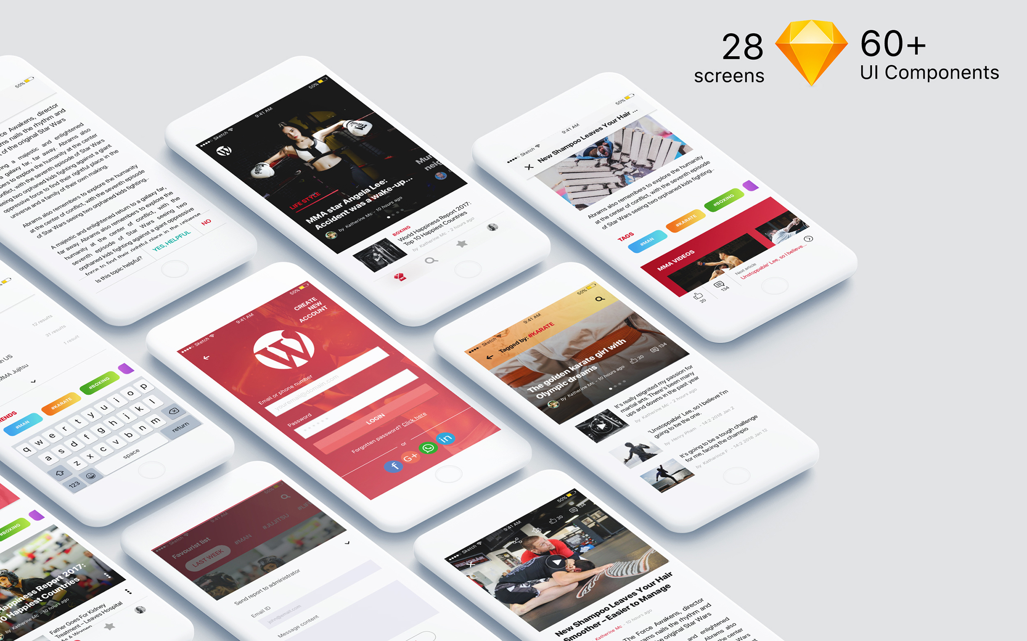 MB UI Kit - Cross Platform design for Newspaper, Blog & Magazine