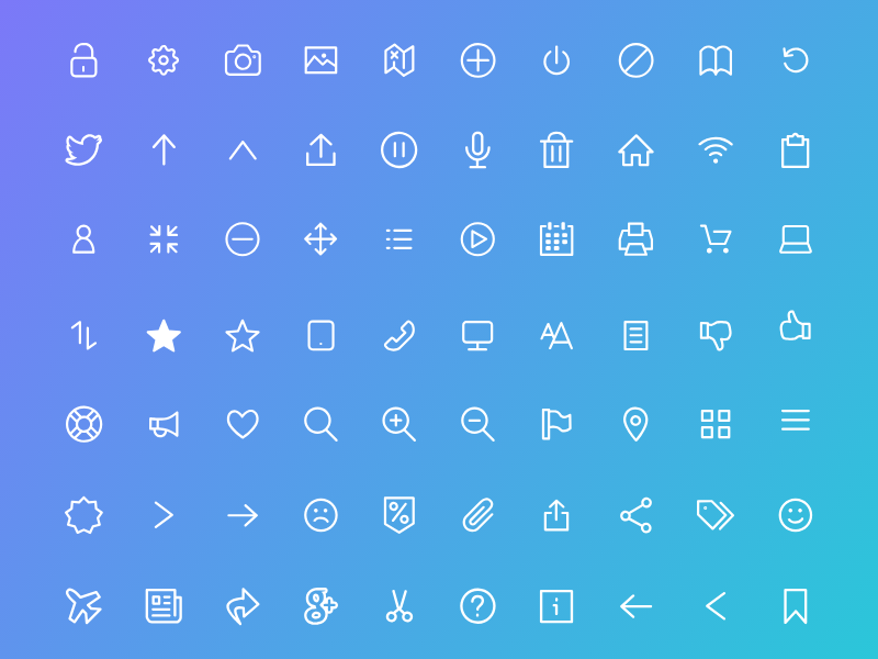 100 Flat icon for Adobe Xd preview picture