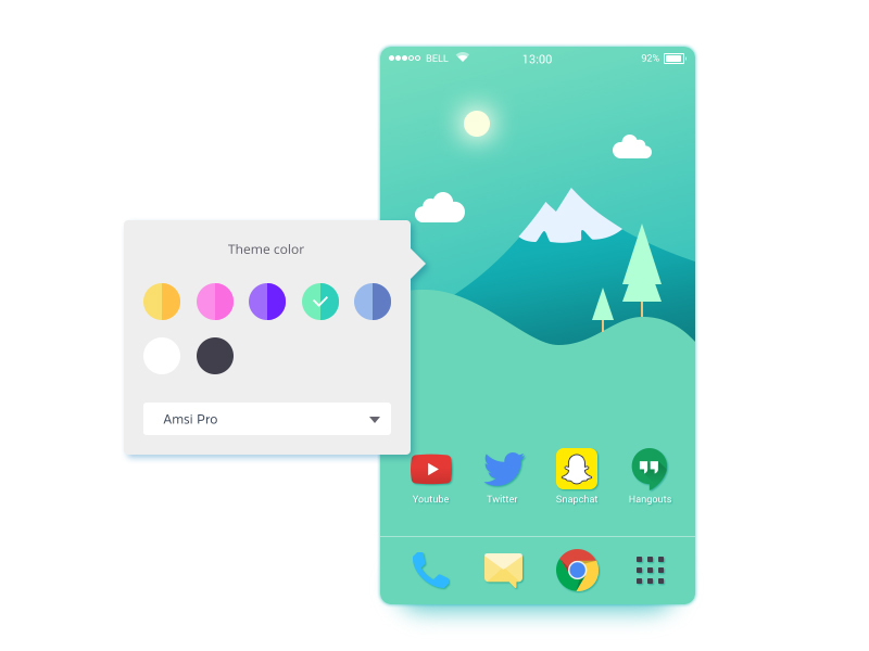 Color theme picker UI