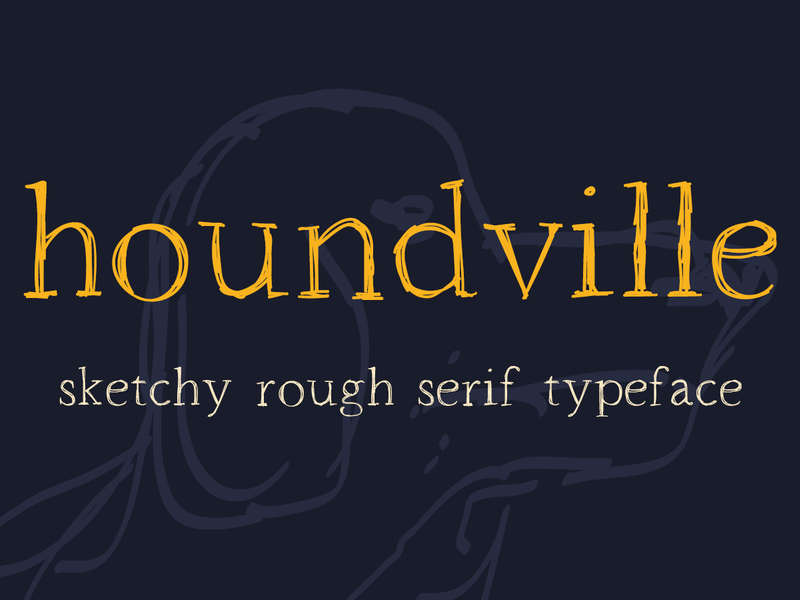 Houndville Font preview picture