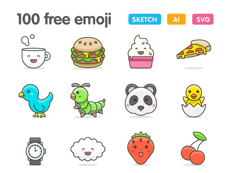 100 More Cute Emoji