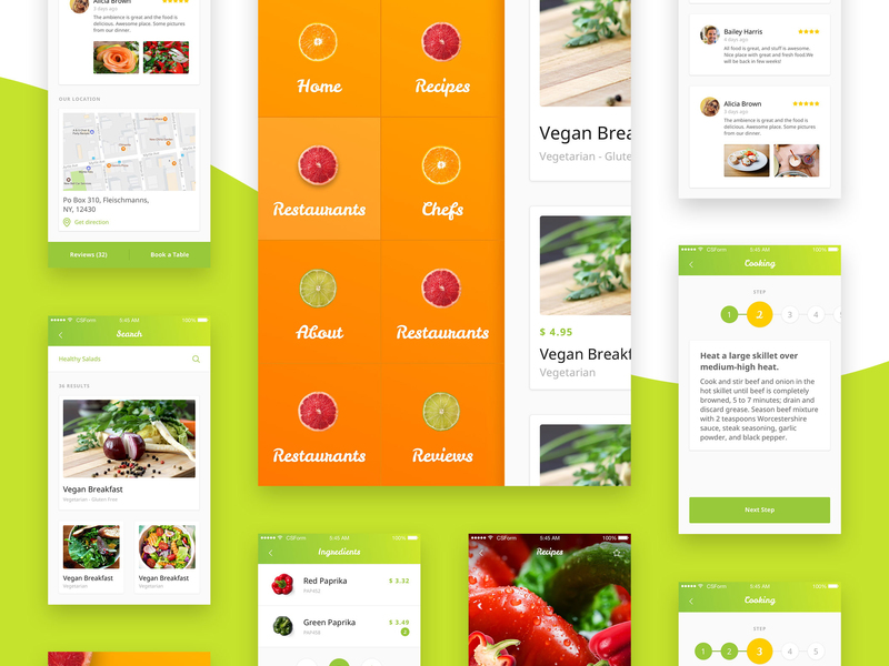 Organic Food UI Kit