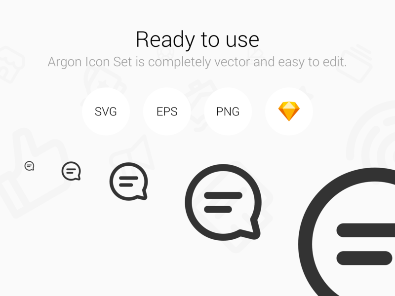 Argon Icon Set 300+ Perfect vector line icons.