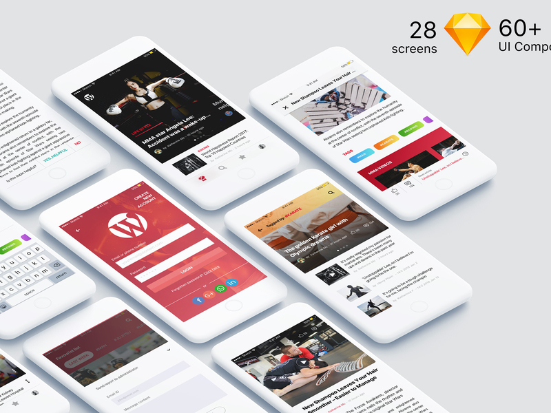 MB UI Kit - Cross Platform design for Newspaper, Blog & Magazine preview picture