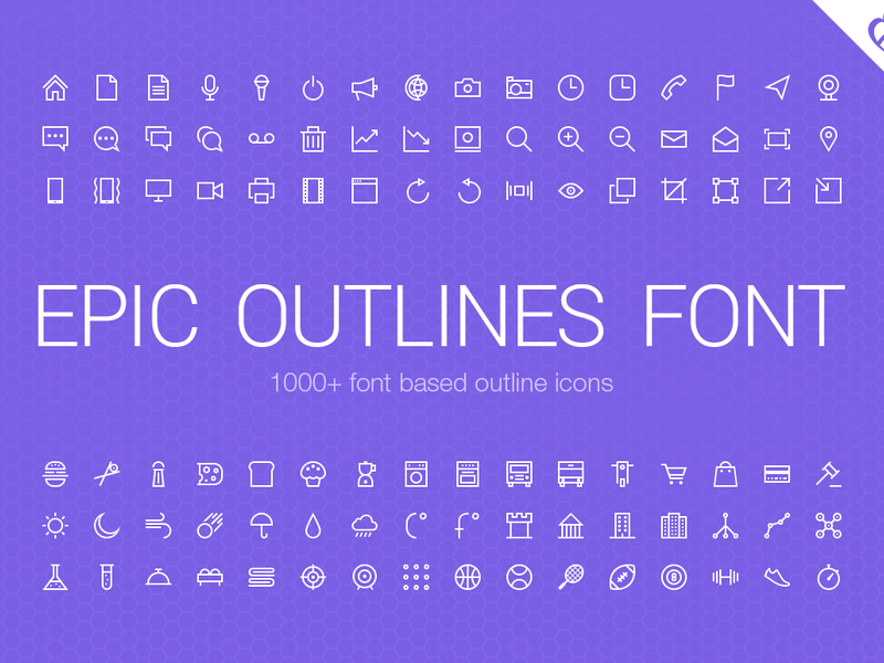 Epic Outlines Font preview picture