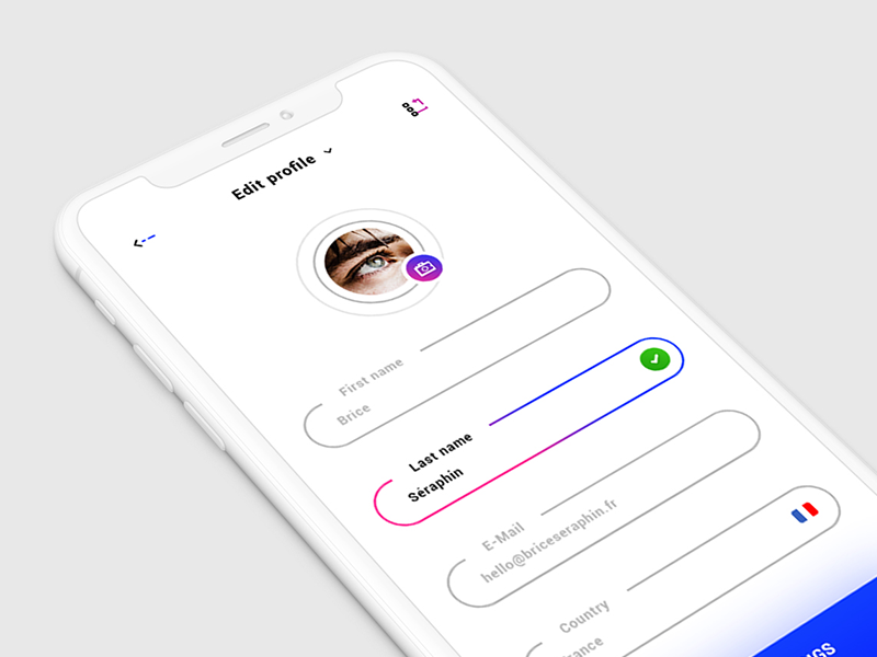 Edit Profile - iOS APP preview picture