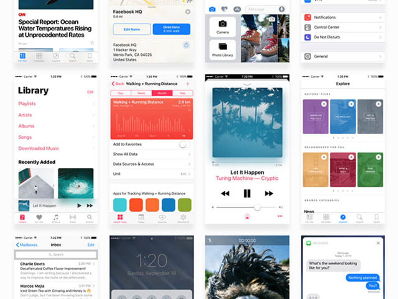 Facebook iOS 10 UI kit preview picture