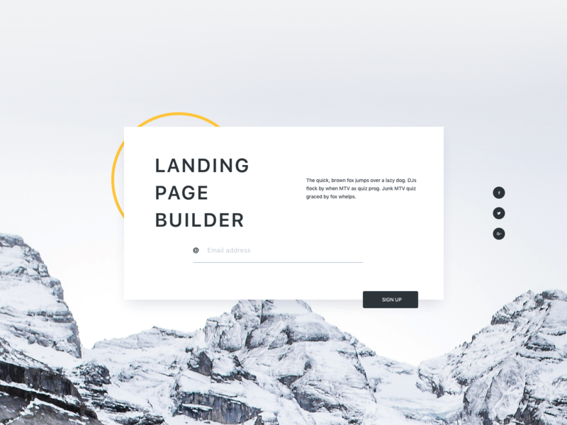 Landing Page Builder UI preview picture