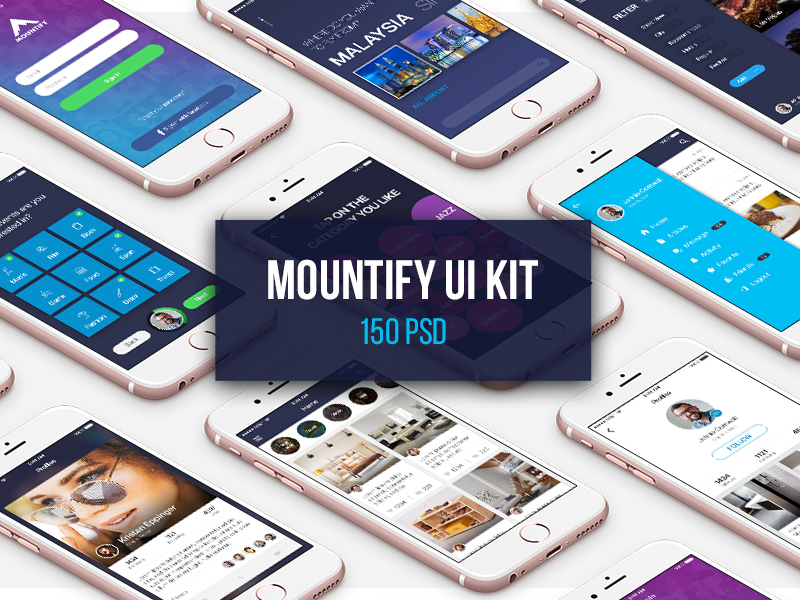 Mountify Mobile UI Kit preview picture