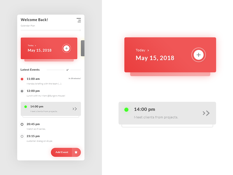 Tasks Events App