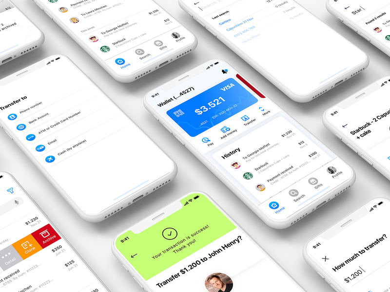 Mobi Wallet - Fintech Apps and Banking Mobile UI KIT
