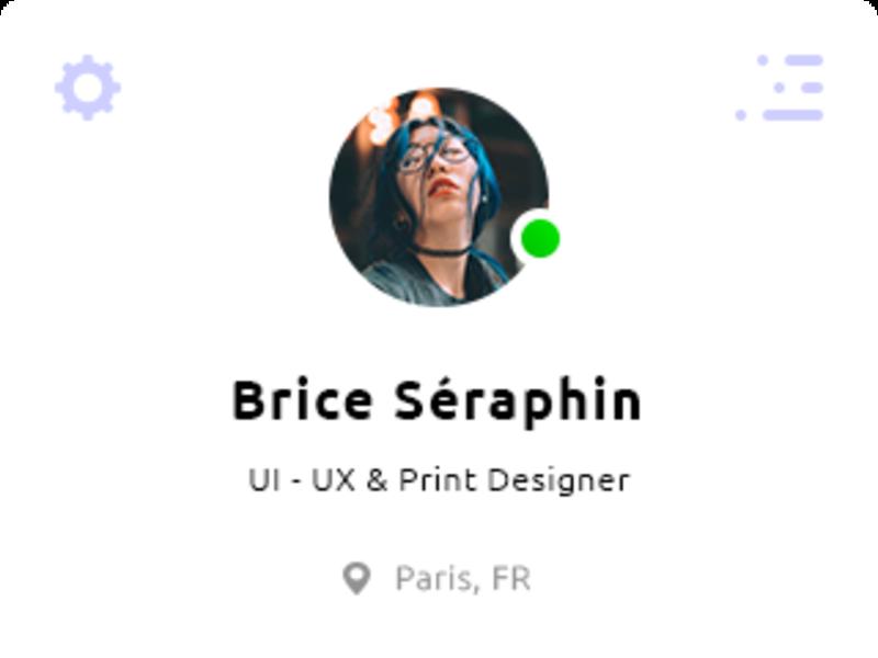 Nav / Menu UI Design