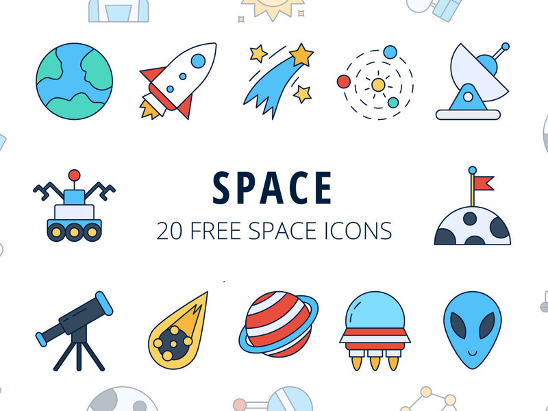 Space Vector Freebie Icon Set preview picture