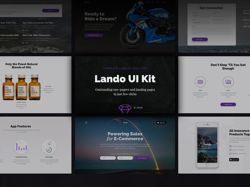 Lando UI Kit [Sketch] preview picture