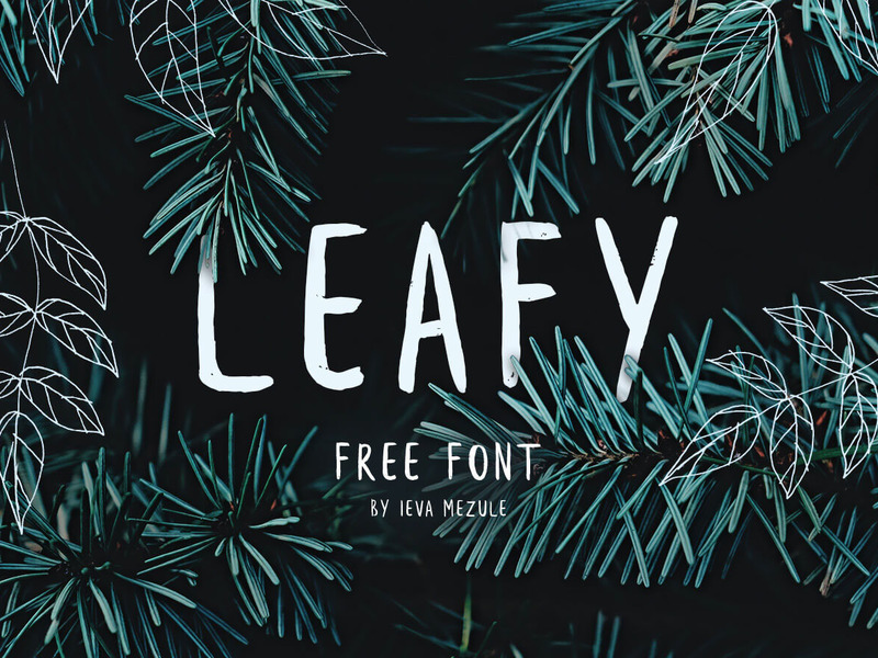 Leafy - Free Font preview picture