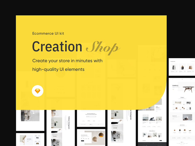 Creation Shop UI Kit Free Sample preview picture