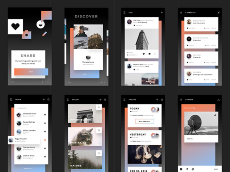 Relate UI kit: Sketch and Photoshop