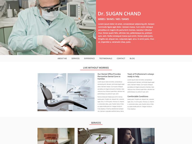 Dentist website template