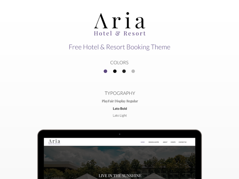 Aria Hotel & Resort Theme preview picture