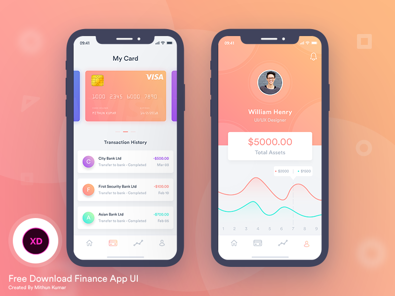 Finance Mobile App UI preview picture
