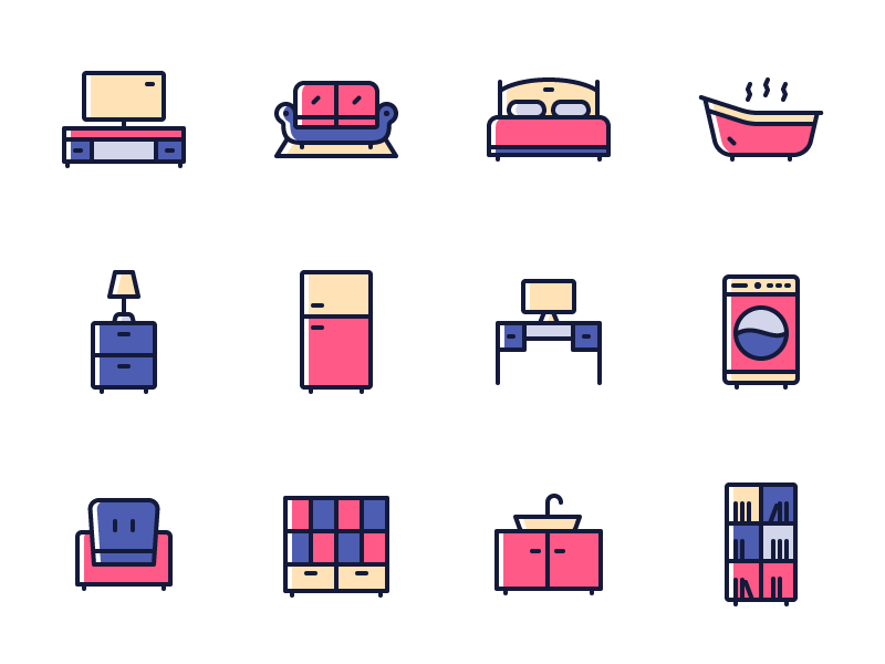 Futon - 15 Furniture Icons
