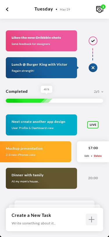 Tasks App UI - UX