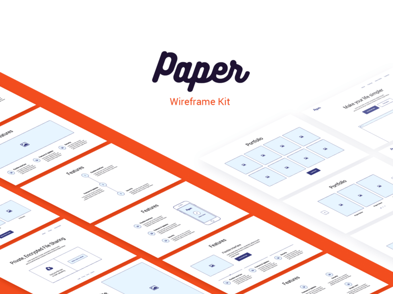 Paper Wireframe Kit preview picture