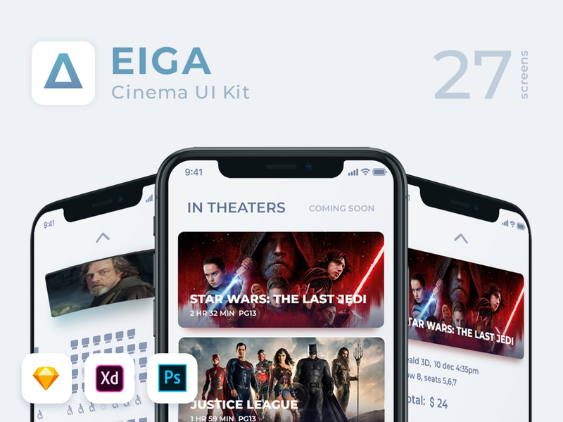 EIGA Cinema UI KIt preview picture