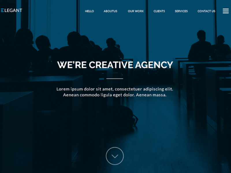 Elegant One Page Website Template[PSD]