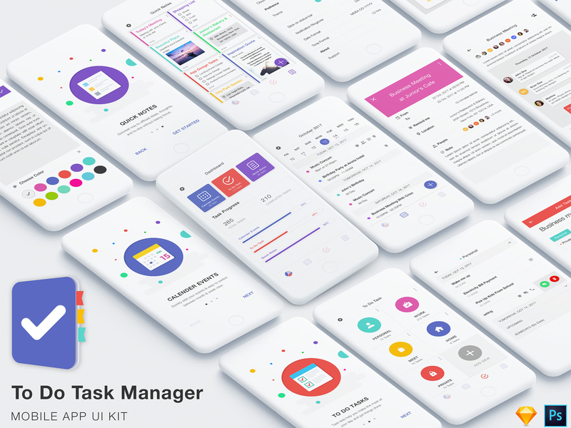 To Do Task Manager App UI Kit preview picture