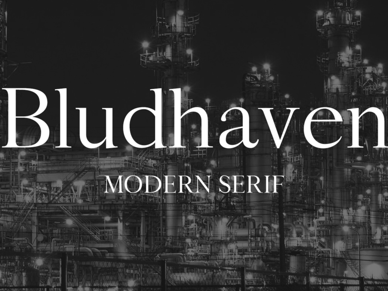 Bludhaven font preview picture
