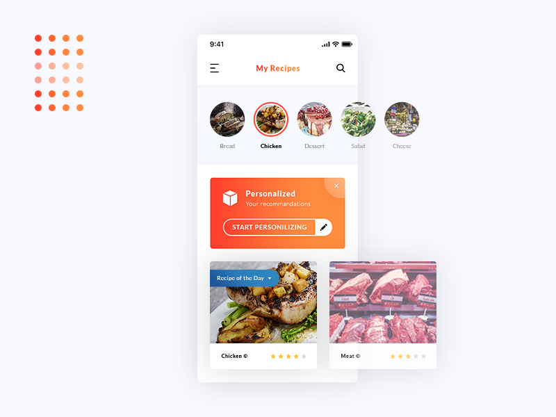 My Recipes App UI Design preview picture