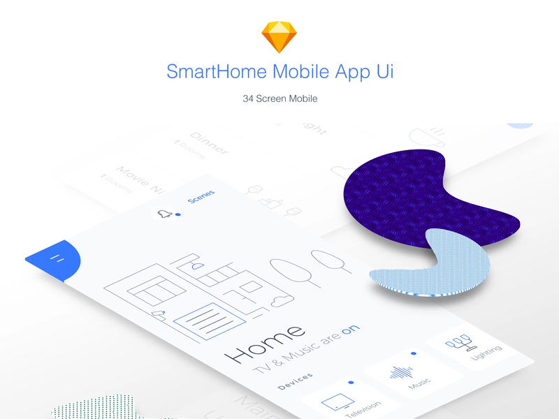 Smart Home Mobile App - Sketch Ui Kit preview picture