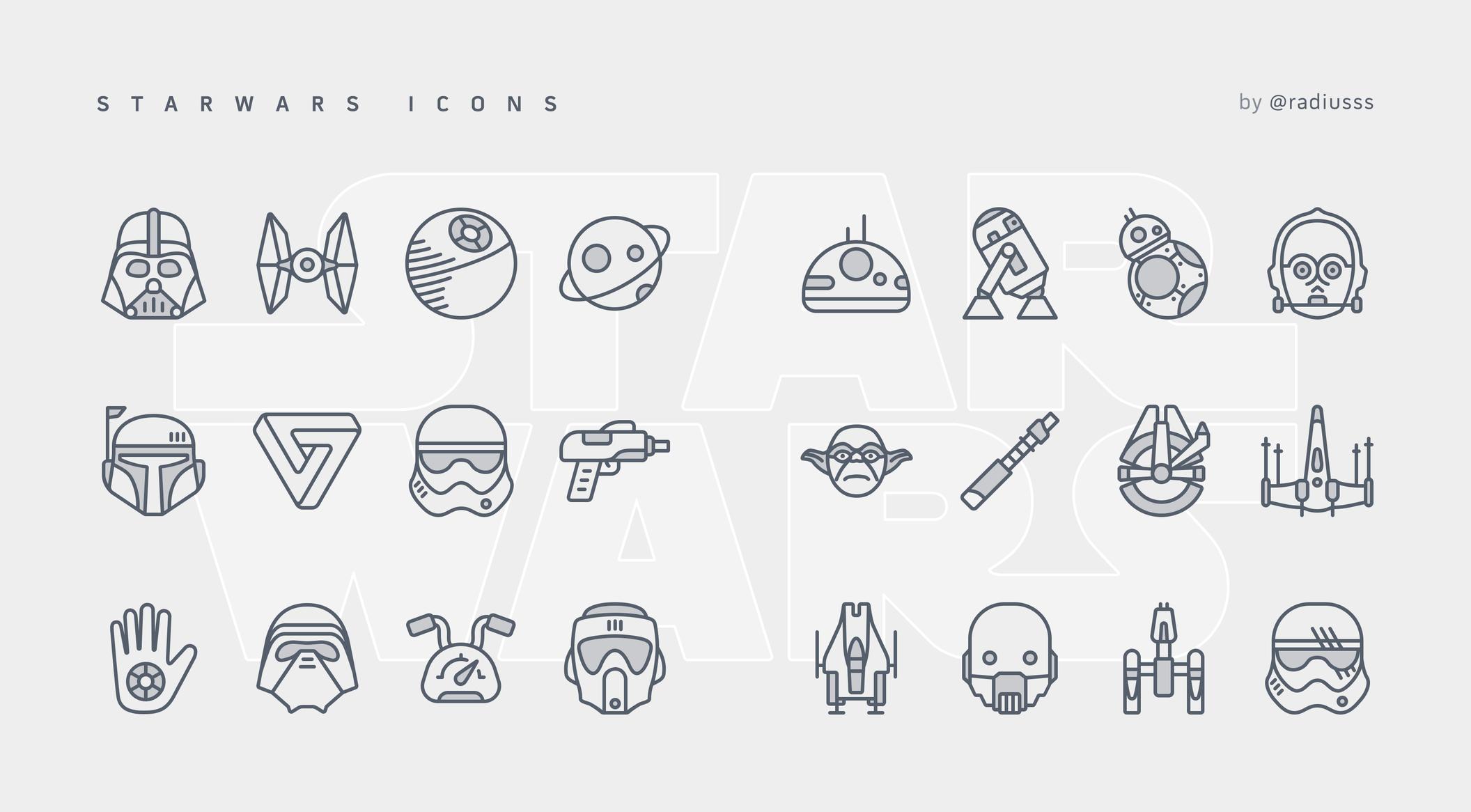 Starwars Icons Set