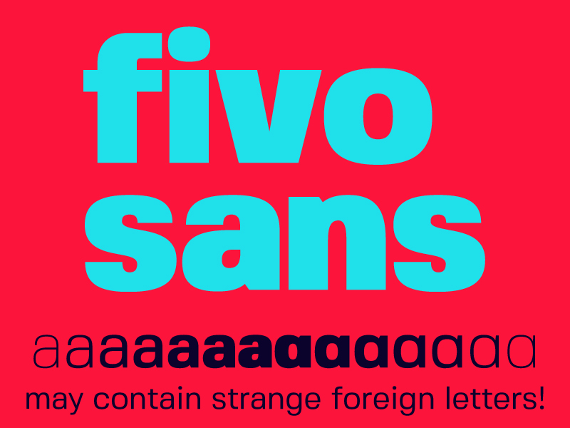 Fivo Sans – Free Font Family preview picture