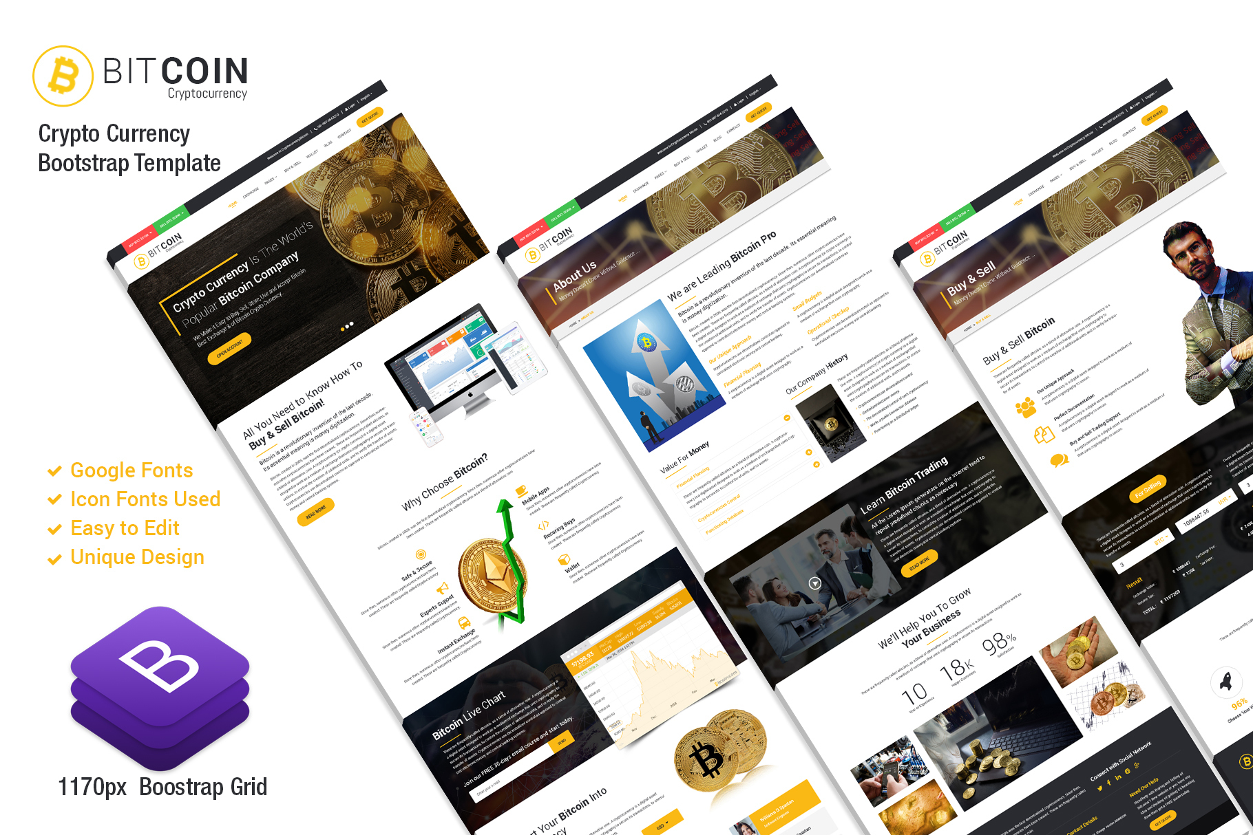 BitCoin-Responsive Website Template