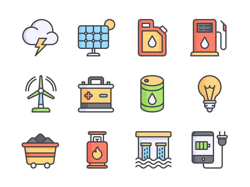 Energy Icon Set preview picture