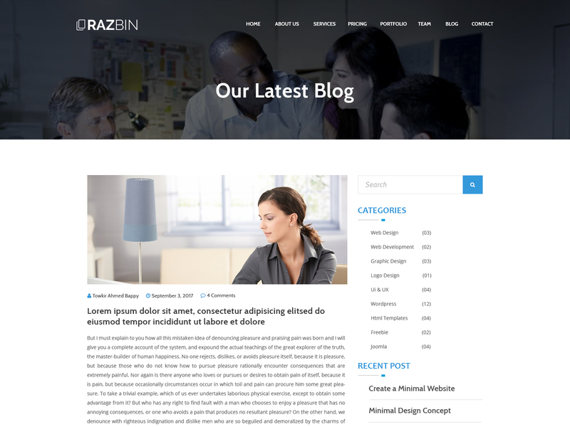 Razbin – Digital Agency web Template free psd