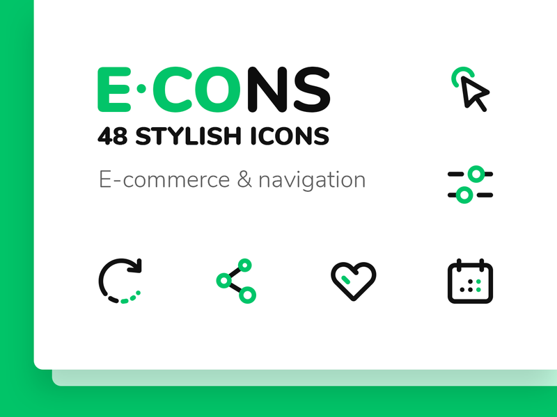 E-CONS Icons set preview picture