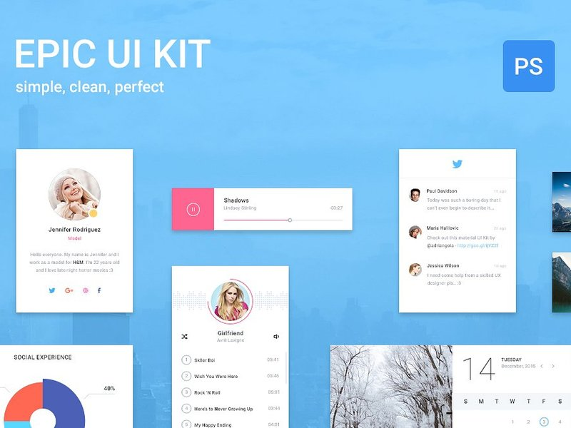 Epic UI Kit + Bootstrap Theme preview picture